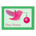 Tarjeta de Navidad del colibrí