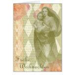 Tarjeta de Navidad del collage de la madre y del n