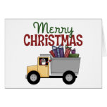 Tarjeta de Navidad del conductor de camión