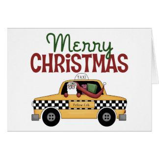 Tarjeta de Navidad del conductor de taxi