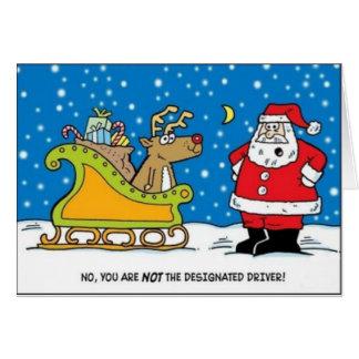 Tarjeta de Navidad del conductor señalado