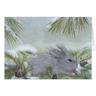 Tarjeta de Navidad del conejo