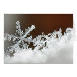 Tarjeta de Navidad del copo de nieve