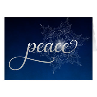 Tarjeta de Navidad del copo de nieve de la paz