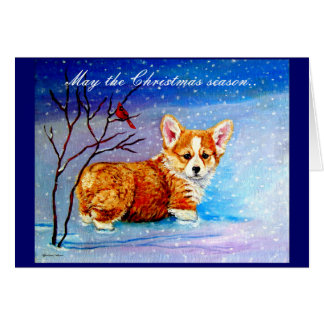 Tarjeta de Navidad del Corgi Galés del Pembroke