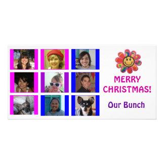 Tarjeta de Navidad del cumpleaños de la rejilla de Tarjetas Con Fotos Personalizadas