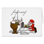 ¡Tarjeta de Navidad del CW Santa del código Morse Tarjeta De Felicitación