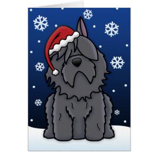 Tarjeta de Navidad del DES Flandres de Kawaii Bouv