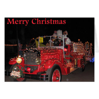 Tarjeta de Navidad del desfile de la luz eléctrica