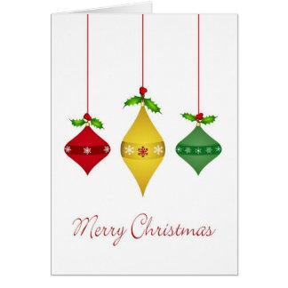 Tarjeta de Navidad del día de fiesta