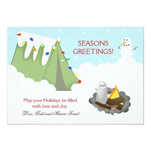 Tarjeta de Navidad del día de fiesta de la nieve Comunicados Personalizados
