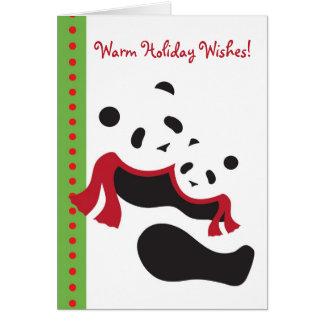 Tarjeta de Navidad del día de fiesta de los osos d