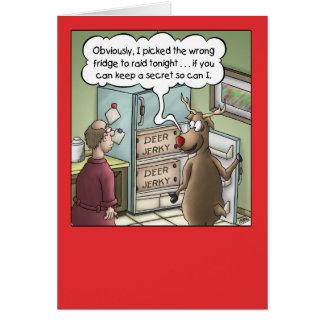 Tarjeta de Navidad del dibujo animado: Ataque del