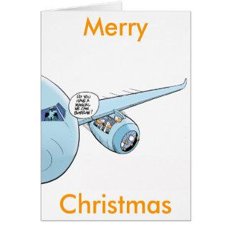 Tarjeta de Navidad del dibujo animado de la