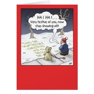 Tarjeta de Navidad del dibujo animado: Flujo