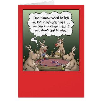 Tarjeta de Navidad del dibujo animado: Juegos del