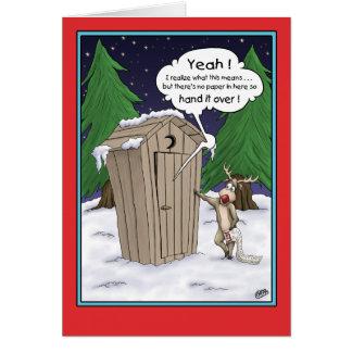 Tarjeta de Navidad del dibujo animado: La lista