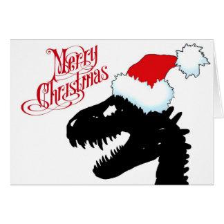 Tarjeta de Navidad del dinosaurio