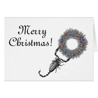 Tarjeta de Navidad del escorpión
