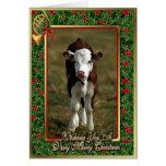 Tarjeta de Navidad del espacio en blanco de la vac
