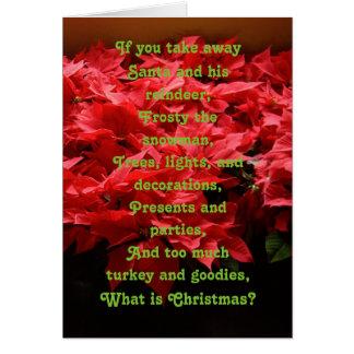 Tarjeta de Navidad del evangelio