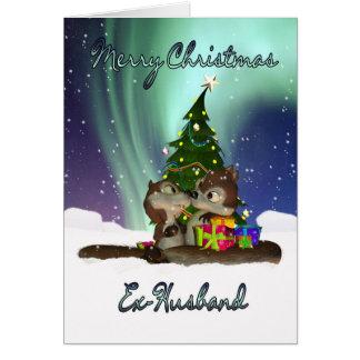 Tarjeta de Navidad del exmarido - ardillas