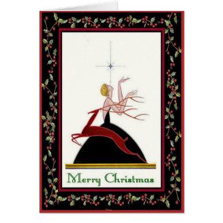 Tarjeta de Navidad del fashionista
