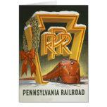 Tarjeta de Navidad del ferrocarril de Pennsylvania