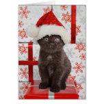 Tarjeta de Navidad del gatito