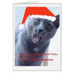 Tarjeta de Navidad del gato 2