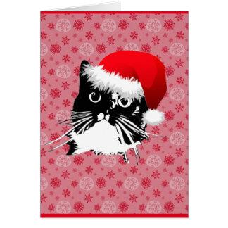 """""""Tarjeta de Navidad del gato de los caballeros Tarjeta Pequeña"""