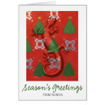Tarjeta de Navidad del Gecko