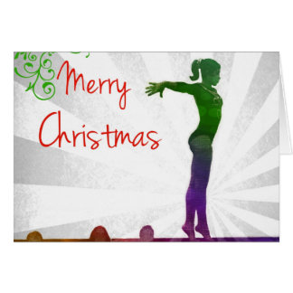 Tarjeta de Navidad del gimnasta