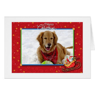 Tarjeta de Navidad del golden retriever