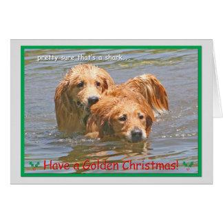 Tarjeta de Navidad del golden retriever 2014