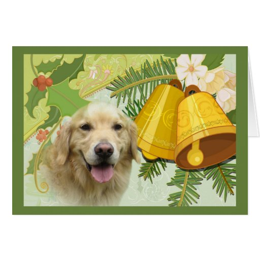 Tarjeta de Navidad del golden retriever Belces