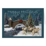 Tarjeta de Navidad del golden retriever Evening4