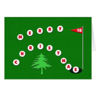 Tarjeta de Navidad del golf de las Felices Navidad