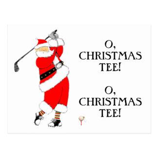 Tarjeta de Navidad del GOLF Tarjetas Postales