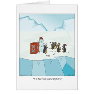 Tarjeta de Navidad del hielo