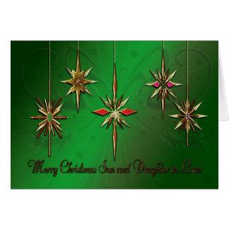 Tarjeta de Navidad del hijo y de la nuera