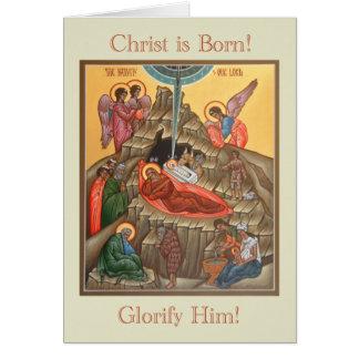 Tarjeta de Navidad del icono