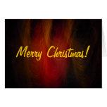 Tarjeta de Navidad del instinto de la noche