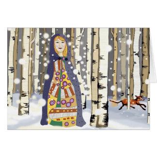 Tarjeta de Navidad del invierno
