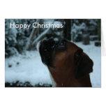 Tarjeta de Navidad del jolie del perro del boxeado