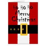 Tarjeta de Navidad del juego de Santa