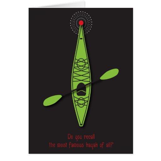 Tarjeta de Navidad del kajak