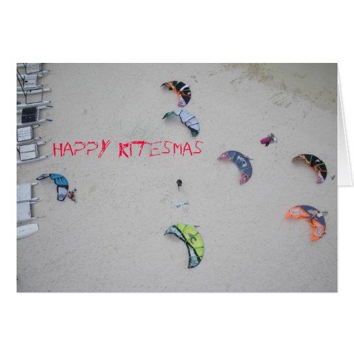 "Tarjeta de Navidad del kitesurf del kiteboard de """
