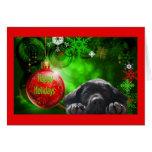 Tarjeta de Navidad del labrador retriever Ball12 r
