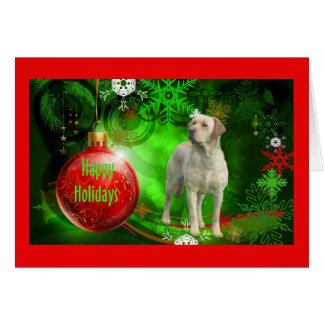 Tarjeta de Navidad del labrador retriever Ball7 ro